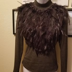 Knit Feather Top